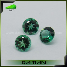 Loose round brilliant cut fashionable synthetic emerald stone jewelry