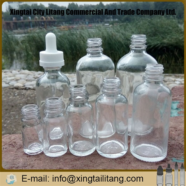 Wholesale e juice empty clear 5ml mini glass bottle for eliquid