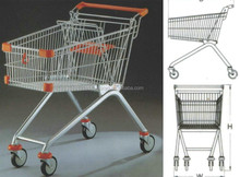 Wholesale Cheap 4 Wheels Big Size Shopping Hand Trolleys Torys