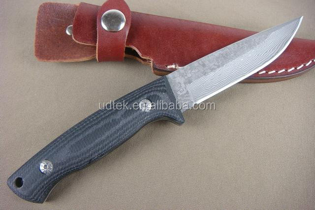 OEM Micarta handle material Damascus Hunting Knife