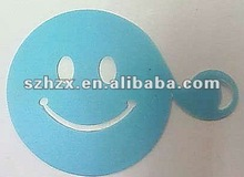 blue delicate smile face decorating coffee tool
