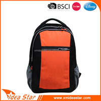 Functional lightweight mesh cotton orange backpack laptop bags for school