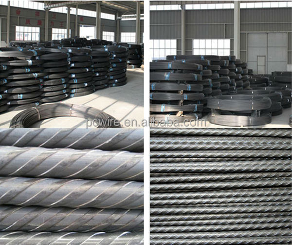 12mm metal building material high tensile low relaxation indented pc steel wire rope for construction