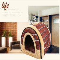 Winter New Arrival Lovely Soft Pet Products Dog Bed Pet House Washable Pet House Durable For small large dog cats