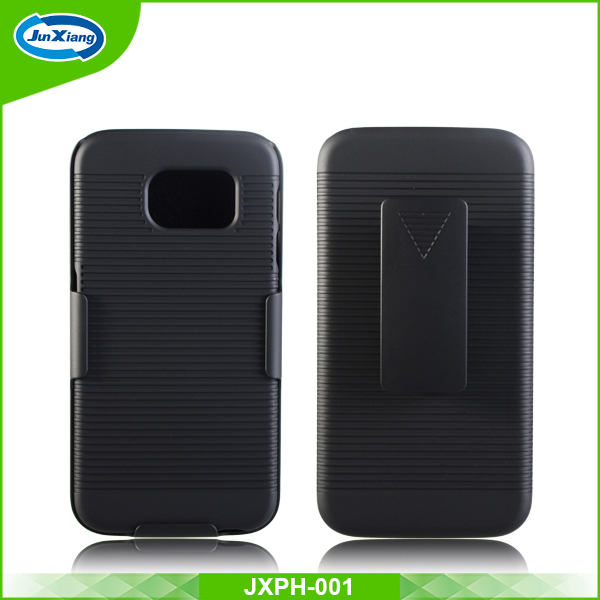 High quality phone accessories hard shell case holster for samsung galaxy s6 with kickstand