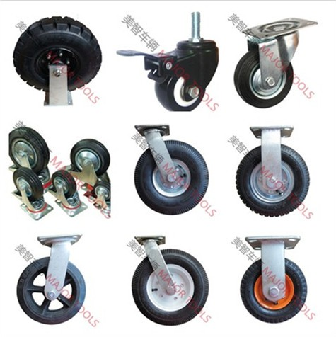 Customized color small transparent swivel pu caster wheels