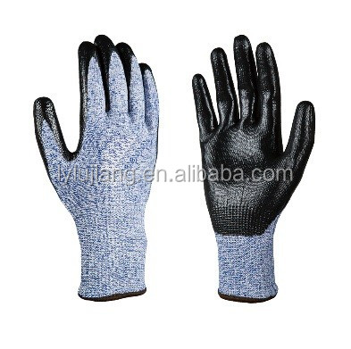 LUJAING SAFETY Nitrile Fully Dipped Cut and Chemical Resistant Gloves Oil Industrial Cut Protective Gloves