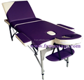Portable Aluminium Massage Table 3 Fold Beauty Bed Therapy Waxing home care massage table