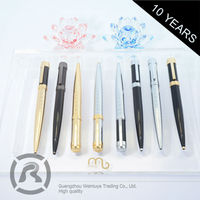 Free Samples Custom Printing Logo Cheap Metal Roller Ball Pens