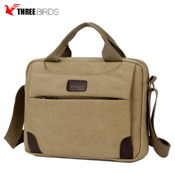 Custom men canvas business bag durable messenger bag laptop briefcase