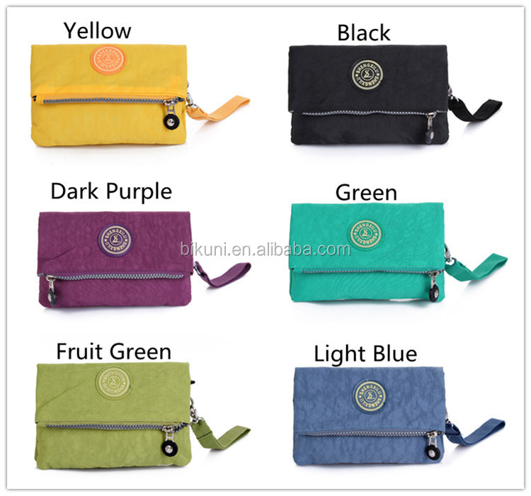 Wholesale Korean nylon washing women carrying small wallets cell ...