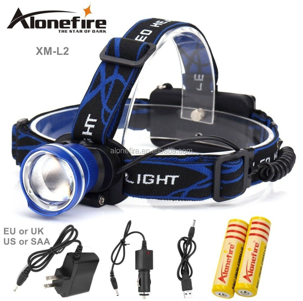 AloneFire HP87 XM-<strong>L2</strong> 2200LM Zoom led Head lamp <strong>L2</strong> LED Headlight Outdoor sports HeadLamp