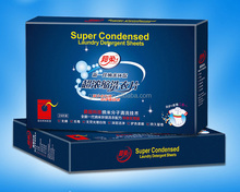 Super Condensed Laundry Detergent Sheets/OEM Easy Carry Laundry Tablets/ECO-Friendly Detergent