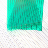 colored hollow6mm double wall polycarbonate sheet,solar roofing panels