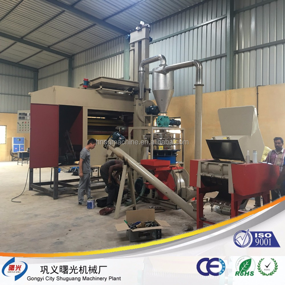 CE approved Factory price aluminum plastic recycling machine of aluminum foil/film