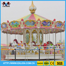 Christmas theme park equipment merry go round ride carousel horse