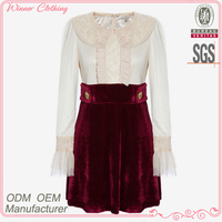 Autumn OEM factory latest garment high quality long sleeves pictures semi formal dresses