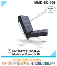 black leather barcelona chair,leather chair,lounge chair in China