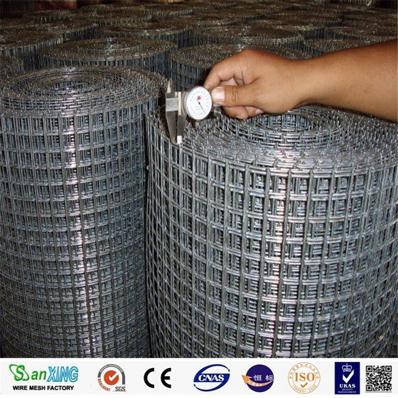 Factory professional hot sale high quality and fairest price galvanized welded steel wire mesh,PVC coated/black welded wire mes