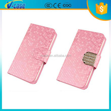 Trend style fashional Genuine leather flip case for huawei ascend y550