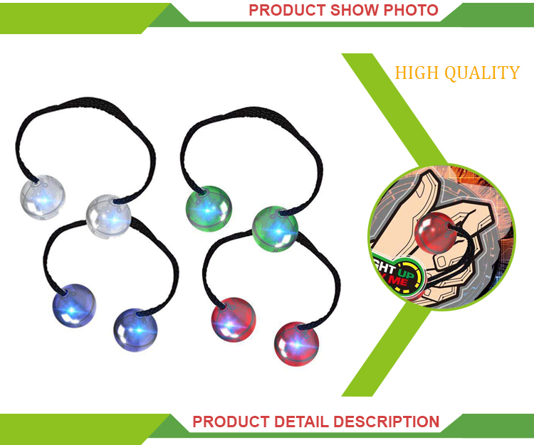 Hot selling light set children play finger toy ball magic yoyo