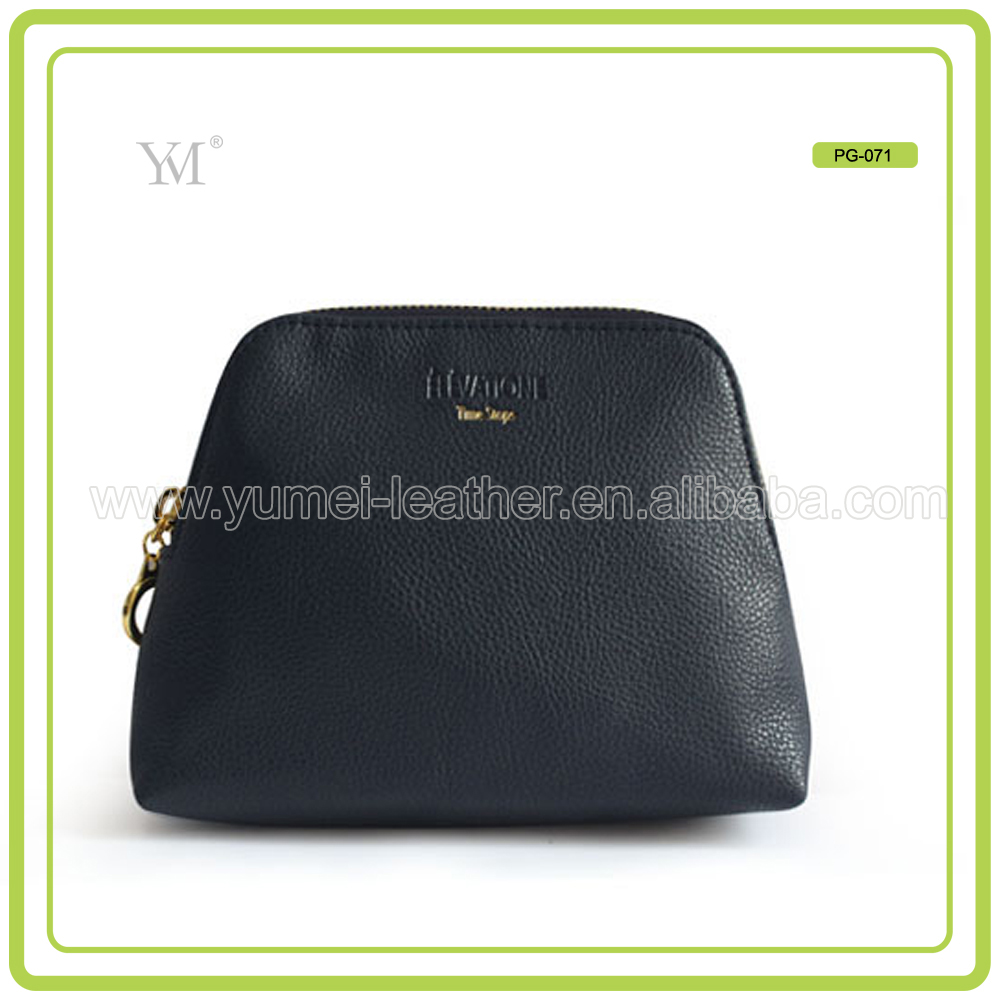 Girl Shiny Black Pu Cosmetic Bag Wholesale
