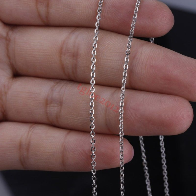 Factory Price Stainless Steel Silver 1-3mm Oval Chain DIY Jewelry Making In Bulk