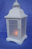 White Metal Christmas Tea Light Lantern Xmas Decoration Candle
