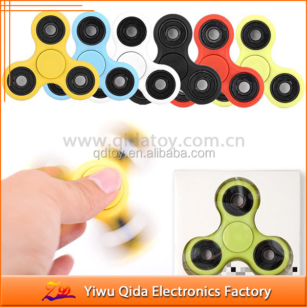 anti stress cheap plastic ceramic finger fidget spinner spinning top toy