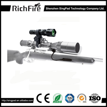 new wholesale led rechargeable red torch guns hunting flashlight