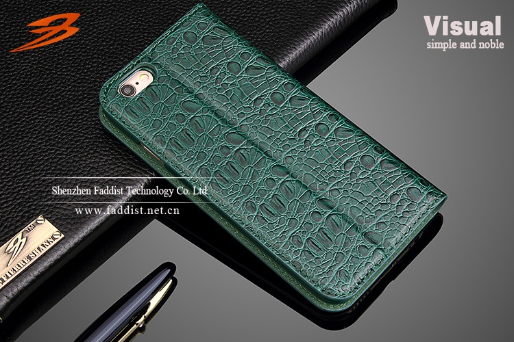 Luxury Crocodile Pattern Genuine Leather Design For Iphone 6 Case Wallet Case