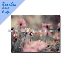 pink small flowers oil painting