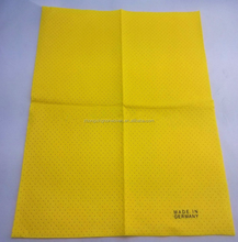 Lint free oil and water absorbent needle punched nonwoven kitchen yellow cleaning cloth