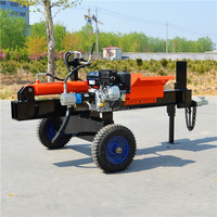 Fast Log Splitter with 20t Splitting Force self-power driving wood tree cutting machine