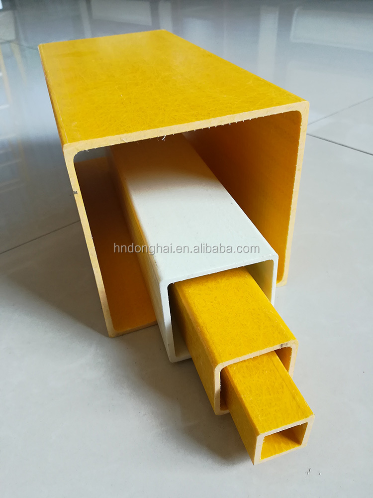 Excellent Structural Properties fiberglass square tubing