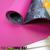 Waterproof fashion custom printed PVC yoga mats