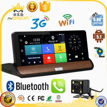 7 inch 3G GPS WiFi Hotspot Android 5.0 Dashboard GPS Navigation Dual Lens Bluetooth FHD1080P 1GB RAM Rear View Camera DVR