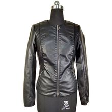 Black Leather Jacket Cool Autumn Outwear Faux Leather Motorcycle Jacket