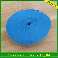 Wholesale Blue Polyester Knitted Band for Mobile Strap/Seat Belt Webbing