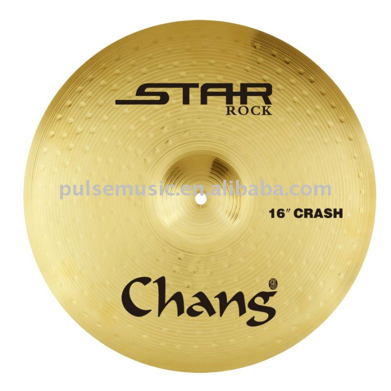 Chang Cheap Star Rock Series Brass Cymbal Set For Drum
