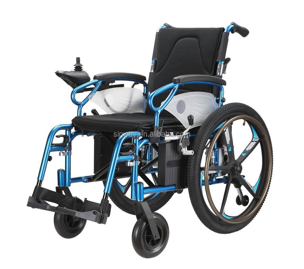2-in-1 manual and power wheelchair with wheel mag