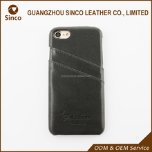 logo embossed oem leather phone case supplier bulk cell phone case for iphone 7
