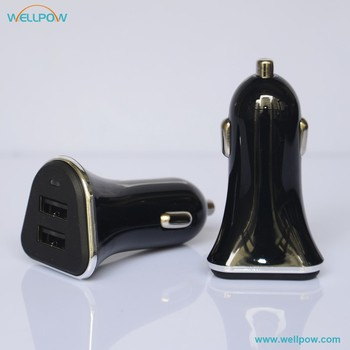 led display Dual USB 5V 3.4a car charger for tablets and smart phone