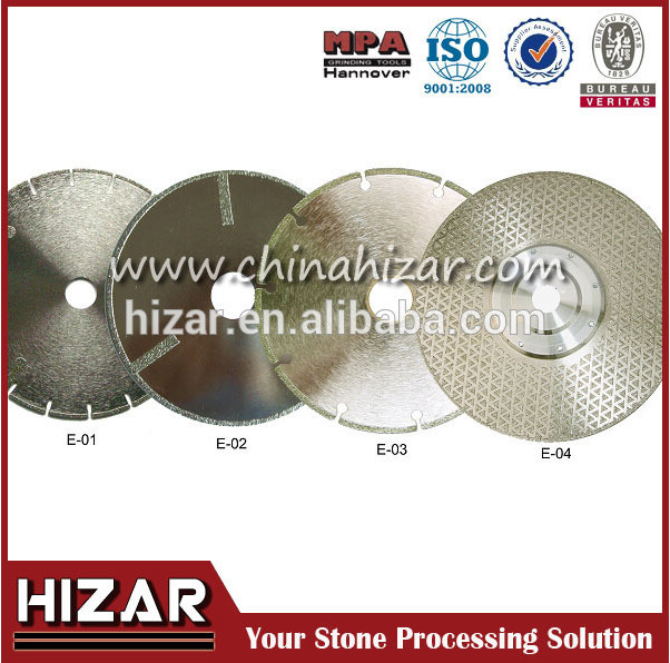 Single electroplated tile saw, diamond hole saw