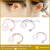 Rose Gold Plated Cartilage Fake Clip-On Pearl Non Piercing Earring