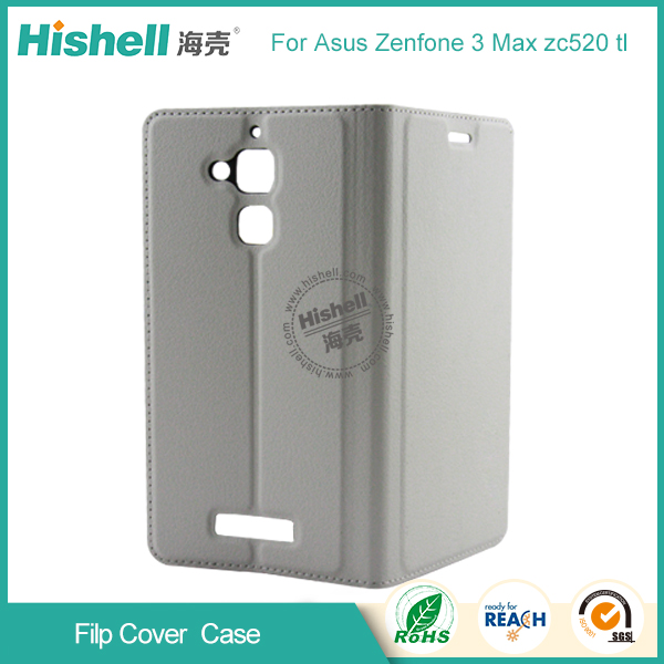 Support OEM PU Flip Cover Mobile Phone PU Case for Asus Zenfone3 Max zc520 tl