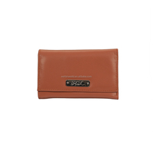 Designer New arrival Stripe Genuine Leather Orange Sandwich Men Wallet with Accessories