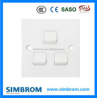 Hot Sale PC Electric Wall Switch,Push Button Switch Three Gang Double Way Switch