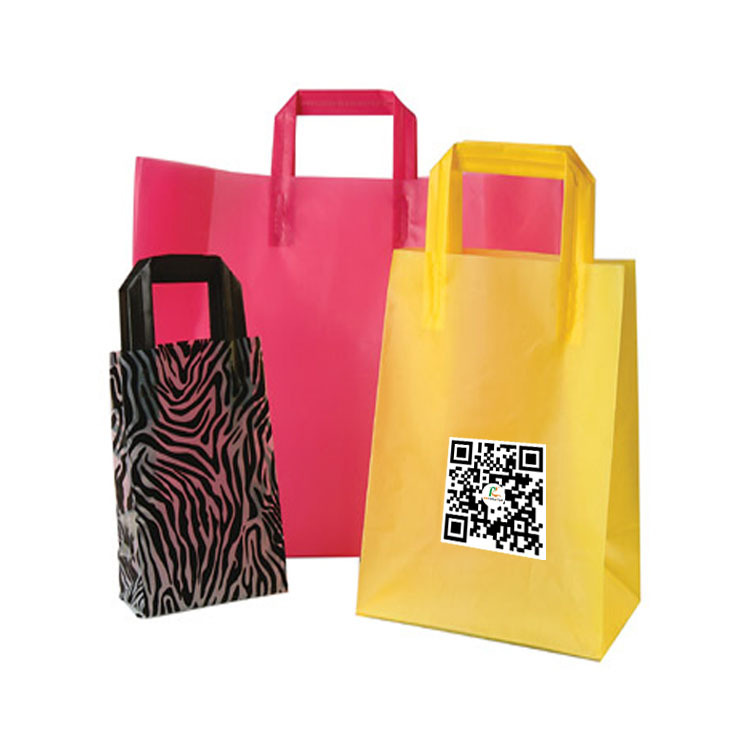 Custom Made LDPE Shopping Plastic Bags With Logo