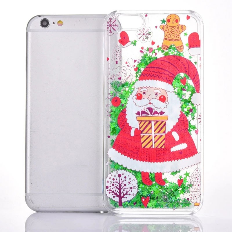 For iPhone 7 Chirstmas Decor Series Santa Claus Style Quicksand Cell phone case for iPhone 7 phone case